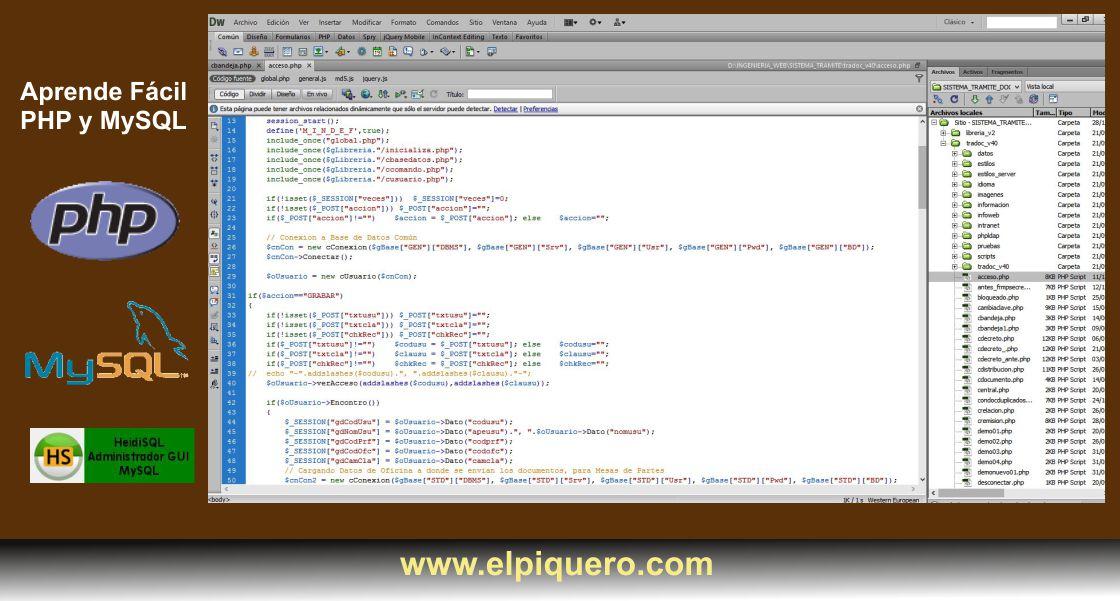 Aprende Fácil Programación en PHP y MySQL