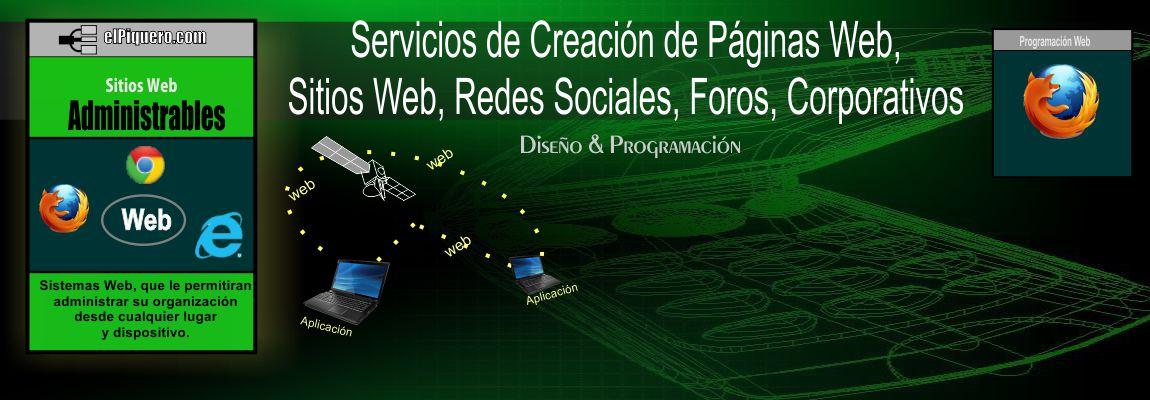Servicios de Creación de Páginas Web, Sitios Web, Redes Sociales, Foros, Corporativos